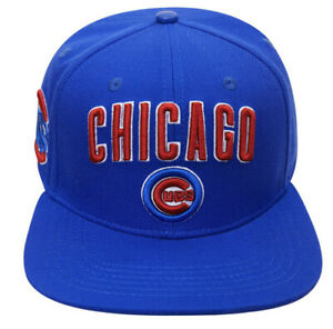 CHICAGO CUBS STACKED LOGO SNAPBACK HAT Pro Standard Blue