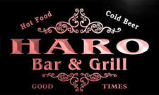 u18947-r HARO Family Name Gift Bar & Grill Home Beer Neon Light Sign