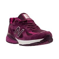 New Balance Womens 990 v4 Fabric Low Top Lace Up, Dark Mulberry, Size 11.5 xEuu