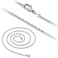 Ankerkette Halskette 2 mm Silber plattiert Damen Herren Kette für Anhänger 40-55