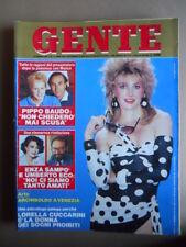GENTE n°3 1987 Lorella Cuccarini Enza Sampò Umberto Eco Pippo Baudo [LOT1Q]