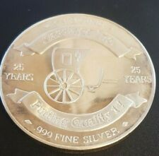 Carriage Inc. 25th Anniversary One Pound .999 Silver Art Round 14.6 Ounces RARE