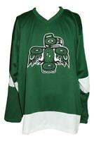 Custom Name # Seattle Totems Hockey Jersey 1970 Green Any Size