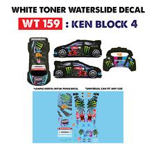 WT159 White Toner Waterslide Decals > KEN BLOC 4 >For Custom 1:64 Hot Wheels