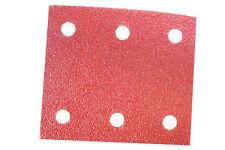 10x Schleifpapier für Schwingschleifer Klett 115mmx102mm 6-Löcher Körnung 100