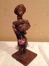 "Vintage 8-1/2"" Collectible Hand Made Paper-Mache Doll/Figurine"
