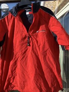 Tommy Hilfiger Lightweight Athletic Top. Short Sleeved, Size S. Partial Zip Fron