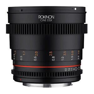 Rokinon 50mm T1.5 Cine DSX High Speed Cine Lens for Canon EF