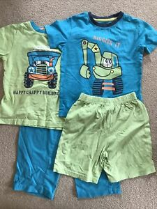 Next Boys Jim Jams Short Sleeve T Shirt Pyjamas Set of 2 Age 4-5 Years