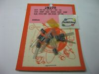 2N2711 NPN Silicon Transistor TO-92 with Rim  - NOS Retail Qty 10