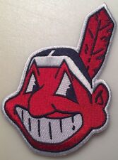 "Cleveland Indians patch Chief Wahoo jersey sleeve MLB logo patch 5"" tall iron on"
