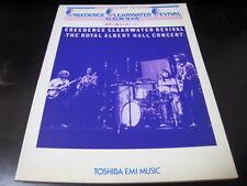 Creedence Clearwater Revival Royal Albert Japan Score Song Book CCR John Fogerty