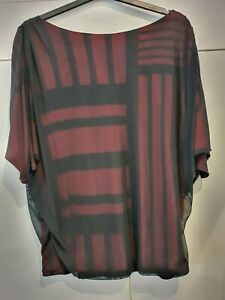 ISABEL DE PEDRO.. Double Layered Batwing Style Sleeve Tunic Top.. Sz 10/12