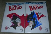 "All Star Batman 1 ""Marry Me"" Catwoman (PAIR) Signed & Remarked Ken Haeser DF COA"