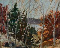 "Sydney Berne (1921-2013) 16x20"" Oil Painting Autumn Landscape Quebec Listed"