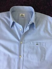 Stunning 100% Genuine Mens Lacoste Short Sleeve Check Shirt In Size 44, XXL