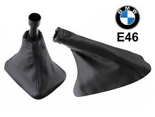 BMW E46 E36 M3 Black Eco Leather Shift & Hand Break Boot Set FREE SHIPPING