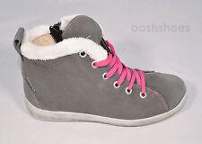 Ricosta Girls Zaysa Waterproof Grey Suede Fleece Zip Boots UK 12.5 EU 31