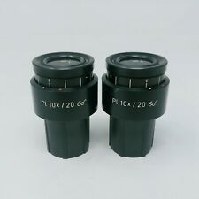 Zeiss Microscope Eyepieces Pl 10x/20  44 40 32 with Reticle