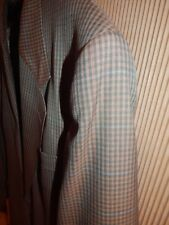 Hart Schaffner Marx 46L BlueGreen Tan Rust Sport Coat Blazer Dinner Jacket