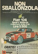 X9218 Fiat 124 Sport Abarth BBURAGO - Pubblicità 1977 - Advertising