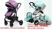 BABY PRAM 2 IN 1 PUSHCHAIR BUGGY STROLLER CARRYCOT TRAVEL SYSTEM