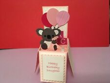 Handmade New Baby / Birthday  Koala design pop up card.