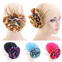 Hair Loss Muslim Headwear Turban Cap Women Big Flower Cancer Chemo Hat Cover