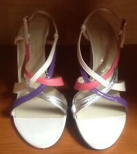 1970s Vintage Charles Jourdan Deadstock Strappy Heels Size 6.5 Made In France