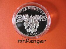 République tchèque 2012 200 Couronnes Argent PP Proof-Junak-scout -