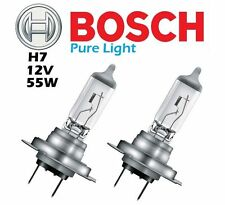 2x BOSCH H7 Eco Pure Light 12v 55w PX26d Bulb Halogen Bulbs