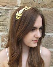 Gold Grecian Leaf Headband Vtg Roman Tiara Greek Bridal Headdress Festival L98