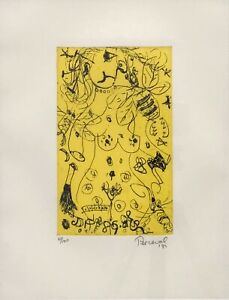 """John De Burgh Perceval """"Nude and Bee"""" Etching Signed/Numbered 47/100 on margin"""