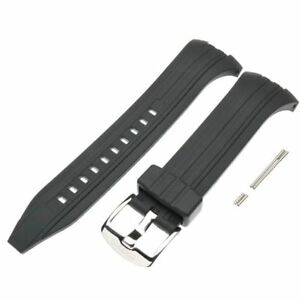 Seiko Black Rubber Watch Band Chronograph SNAD33 SNAD35 SNAD37 SNAD61 7T62-0JZ0