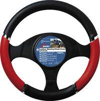 New Sumex Speed Luxury Car Steering Wheel Sleeve Cover - Black, Red & Chrome #58