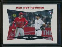 2018 Topps Throwback Thursday Gleyber Torres & Shohei Ohtani RC Card #174 SP