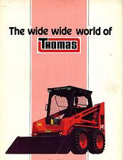 THOMAS  SKID STEER LOADER BROCHURE