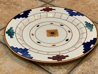 "VINTAGE HARTSTONE CHEYENNE SOUTHWEST AZTEC PRINT 12.25"" DINNER PLATE PLATTER EUC"