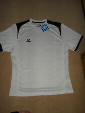 Sondico Mens T Shirt Large White Black size L Football New with tags RRP £15.99