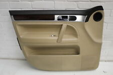 VW Touareg Front NS Left Cream Leather Door Card