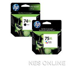HP #74XL BLACK+75XL Tri-Colour High Yield INK Cart CB336WA+CB338WA 750/520 Pages
