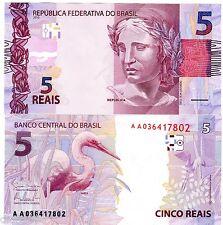 Bresil BRAZIL Billet 5 REAIS  2013 NEW NOUVEAU CIGOGNE NEUF UNC