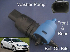 Front & Rear Windscreen Washer Pump Vauxhall Astra Hatchback 2009 2010 2011 2012