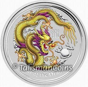 Australia 2012 Yellow Dragon ANDA Melbourne Show Special $1 Silver in FULL OGP