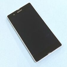 Genuine Sony Xperia Z white front+digitizer touch+LCD display screen NO VIBRATOR