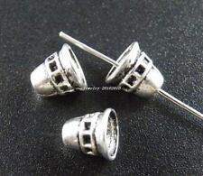 120pcs Tibetan Silver Nice Bell Shaped Bead Caps 7x7mm  8717-1