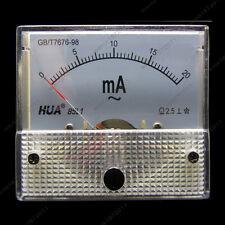 AC 20mA Analog Ammeter Panel Pointer AMP Current Meter Gauge 85L1 0-20mA AC