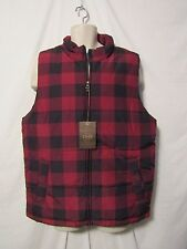 mens weatherproof thermal jacket vest L nwt $85classic  red black plaid
