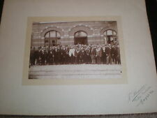 Old photograph Mayor and entourage by Stainier at Heyst Sur Mer Belgium c1900s