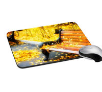 Autumn Bench Digitally Printed Mouse Pad Gaming Mouse Non-Slip Pad